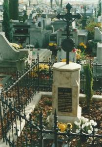 """Rycina 1. Na obelisku nagrobnym jest umieszczona stara tablica, na której widnieje napis krótki i skromny, ale jakże wymowny: """"JÓZEF STARKEL UR. 10 MARCA 1807 DOKTOR MEDYCYNY SPĘDZIWSZY ŻYWOT NA USŁUGACH OJCZYZNY I LUDZKOŚCI ZM. 15 WRZEŚNIA 1875"""""""